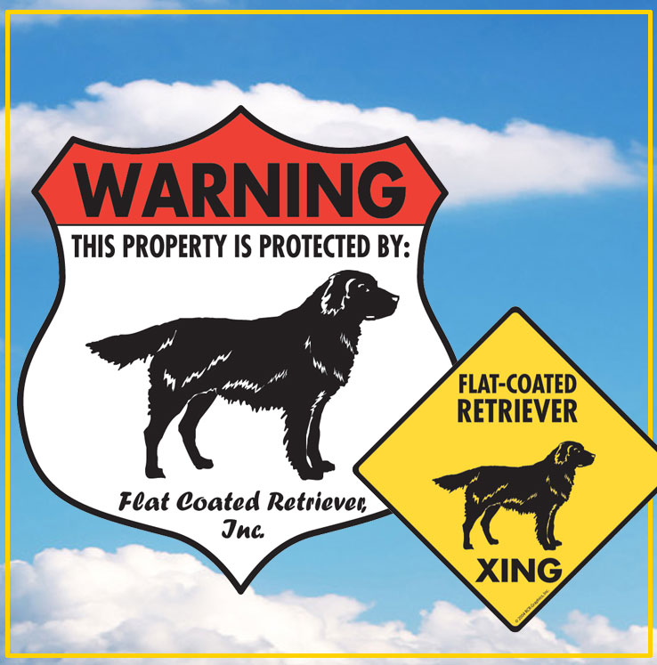 Flat-Coated Retriever Dog Signs