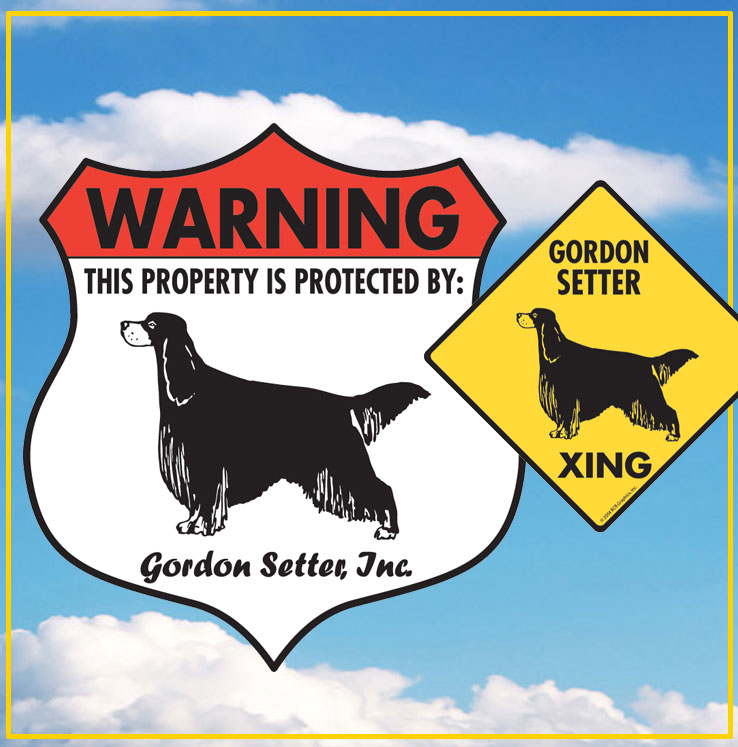 Gordon Setter Dog Signs