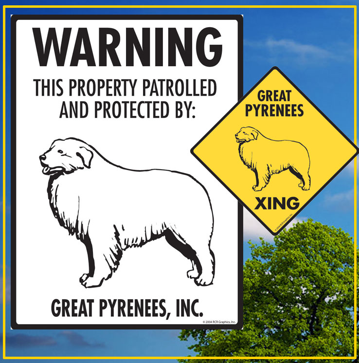 Great Pyrenees Dog Signs