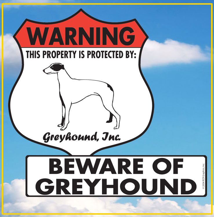 Greyhound Dog Signs