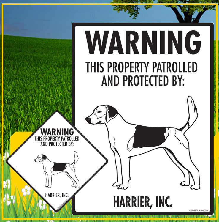 Harrier Dog Signs
