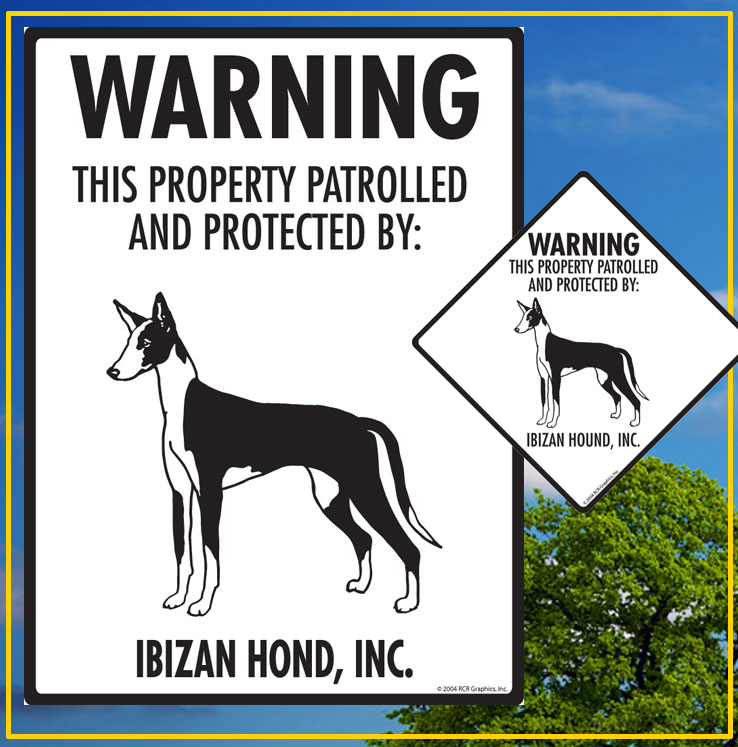 Ibizan Hound Dog Signs