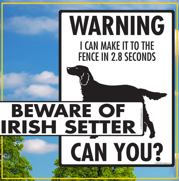 Irish Setter Dog Signs