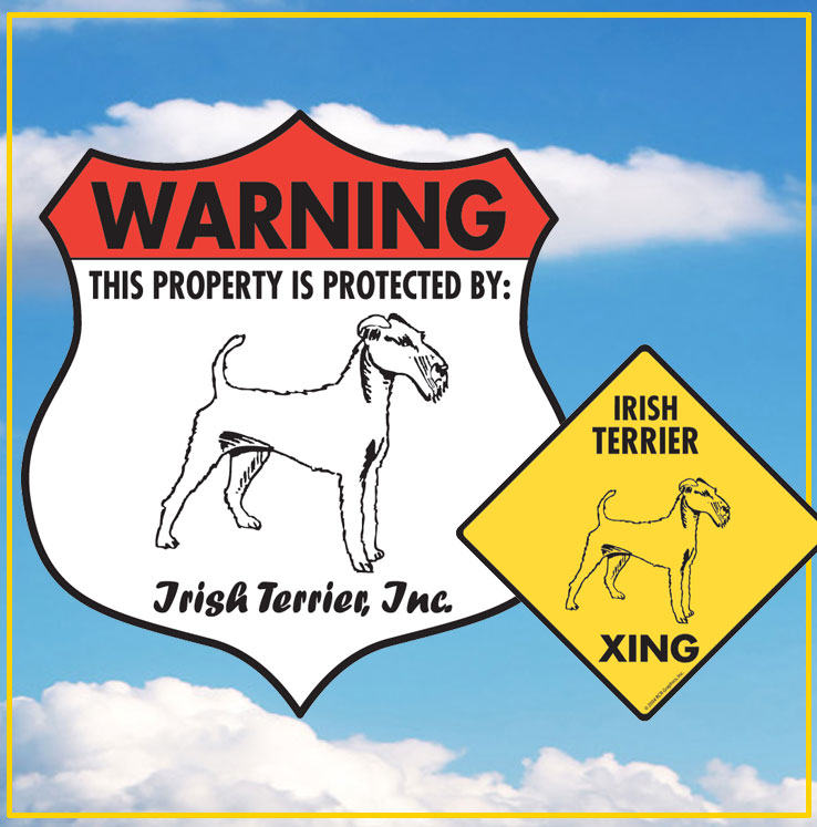 Irish Terrier Dog Signs