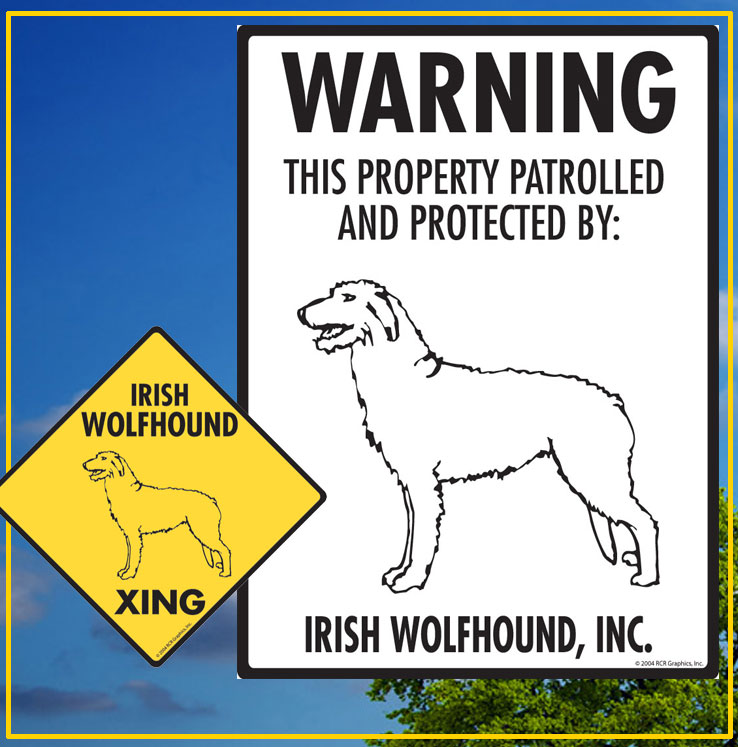 Irish Wolfhound Dog Signs