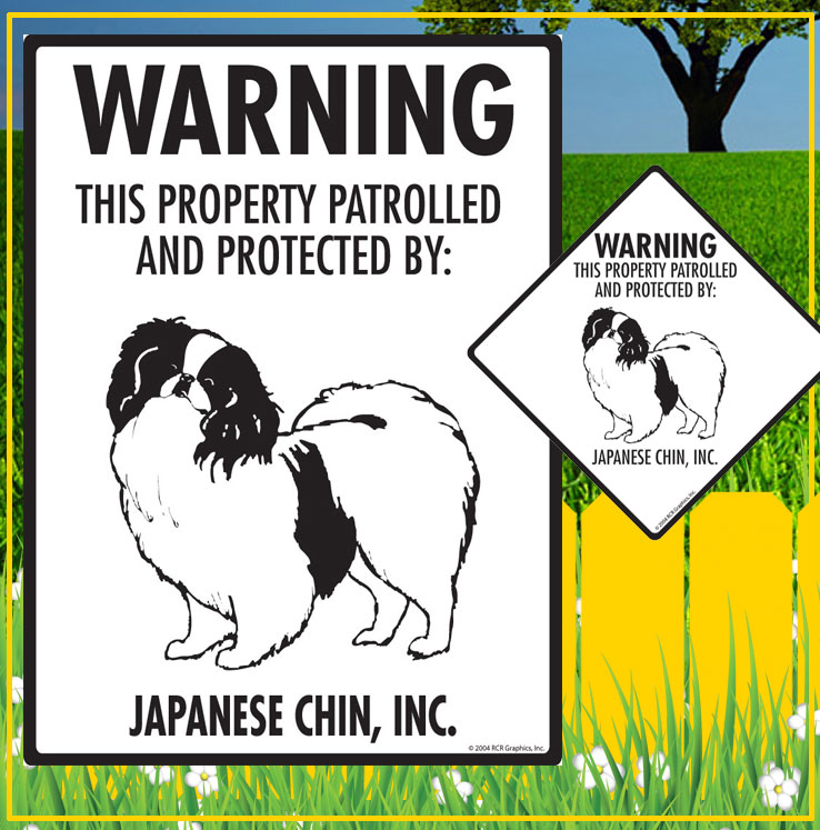 Japanese Chin Dog Signs