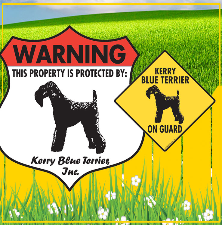 Kerry Blue Terrier Dog Signs