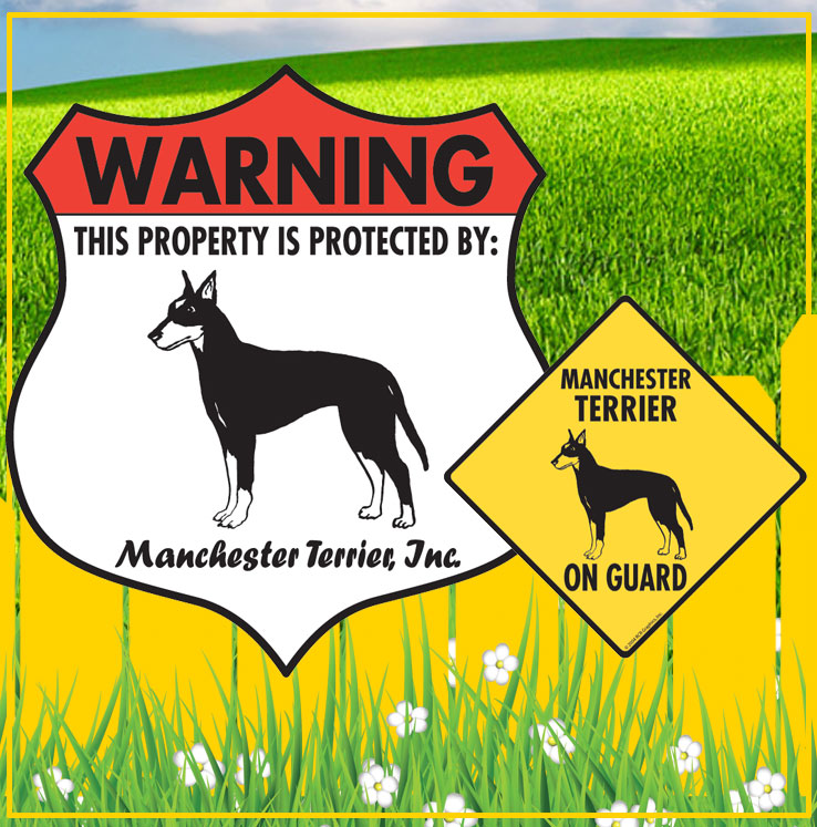Manchester Terrier Dog Signs