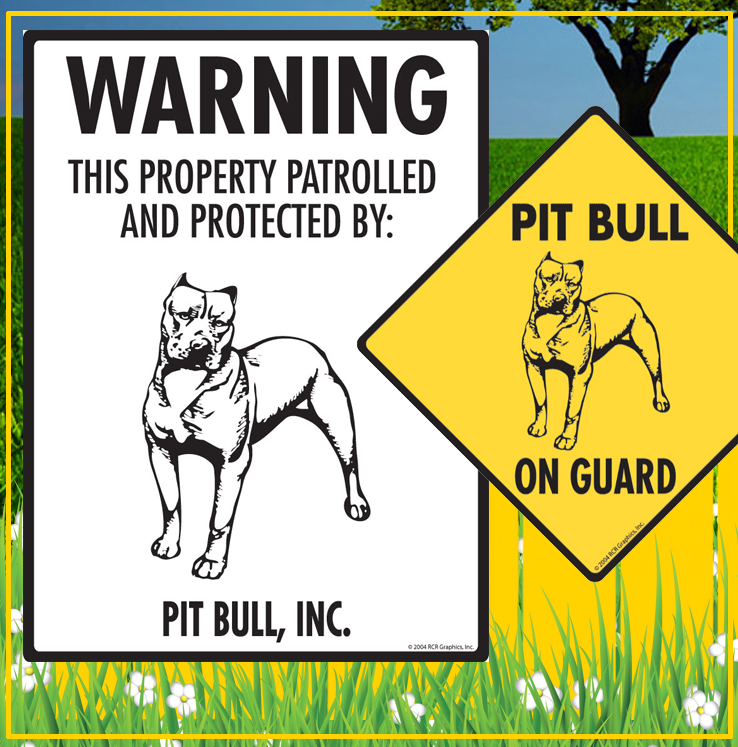 American Pit Bull Terrier Dog Signs