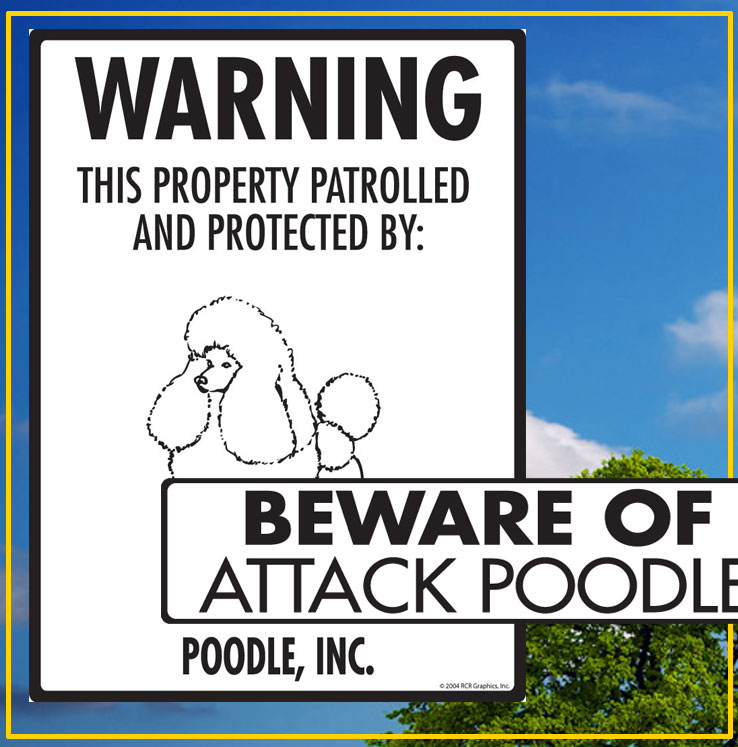 Poodle Signs