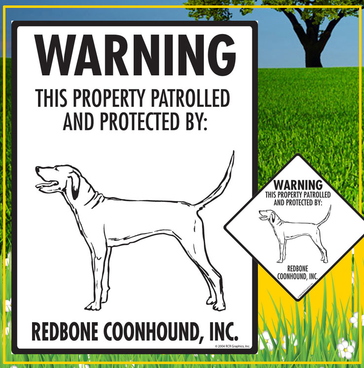 Redbone Coonhound Signs
