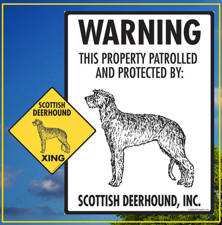 Scottish Deerhound Signs