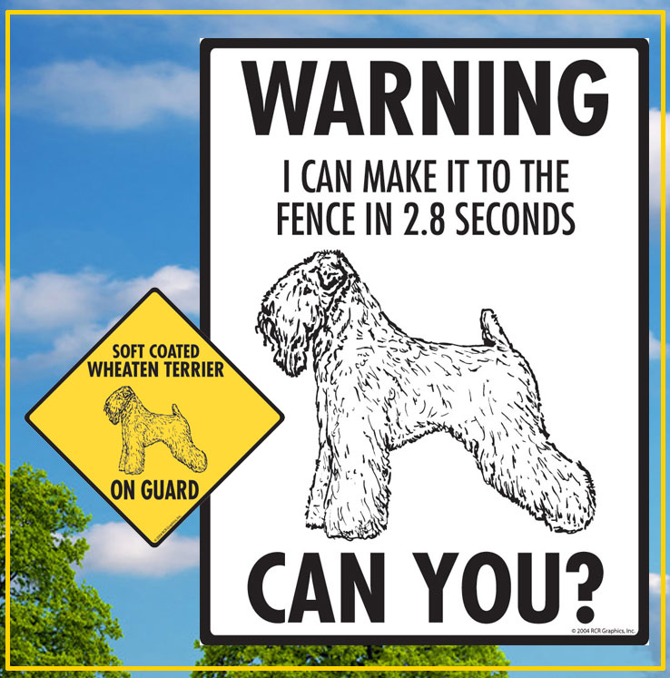 Soft Coated Wheaten Signs