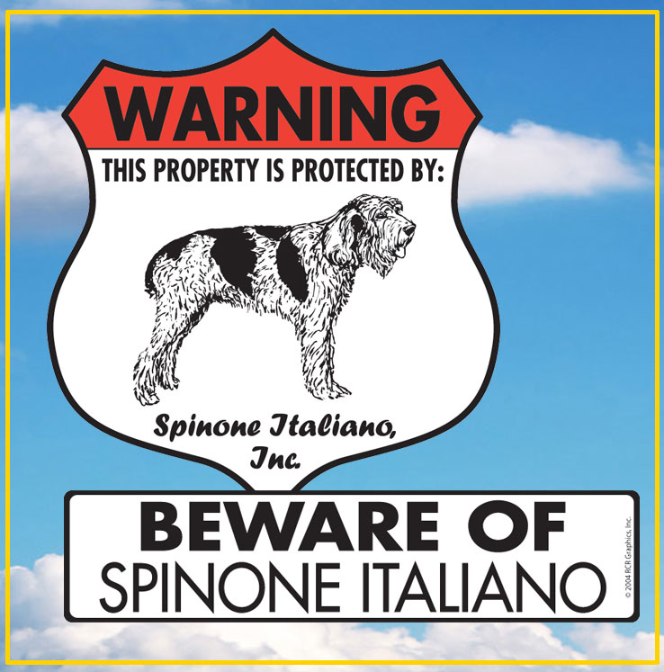 Spinone Italiano Signs