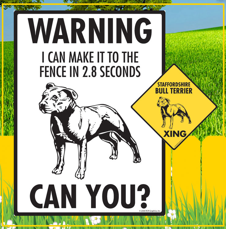 Staffordshire Bull Terrier Signs