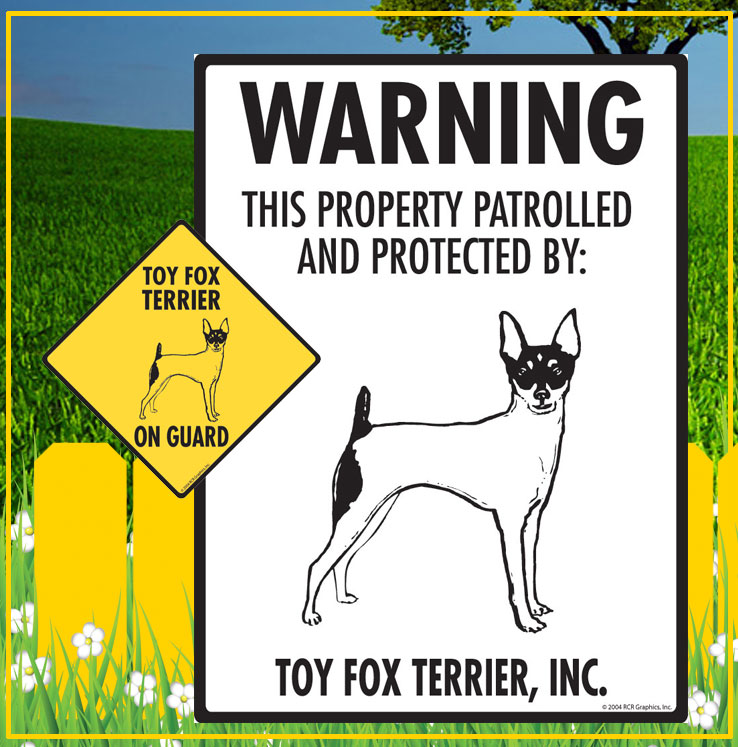 Toy Fox Terrier Signs