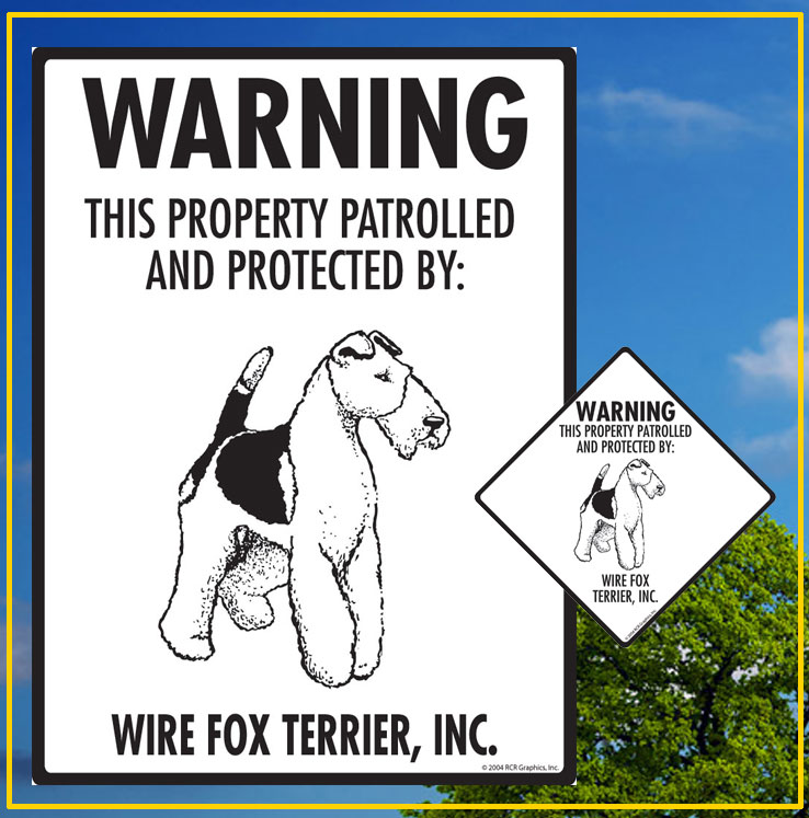 Wire Fox Terrier Signs