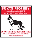 Private Property - German Shepherds Will Protect