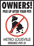 Pick Up After Your Pet Personalized Sign - 9