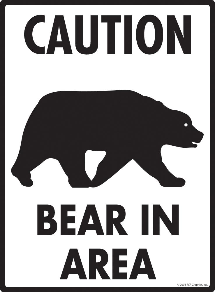 Caution Polar Bear Crossing Symbol Animal Xing Metal Aluminum Novelty Road Sign
