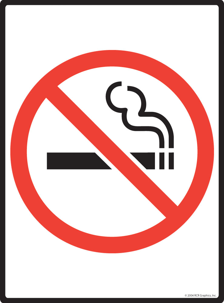 No Smoking Symbol Aluminum Warning Sign 9 X 12 Ebay