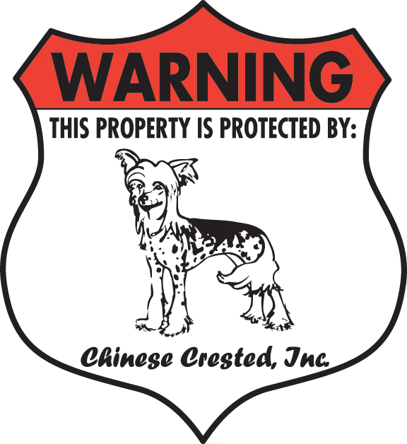 "Badge Warning 7/"" x 8/"" Akita Property Protected Aluminum Dog Sign"