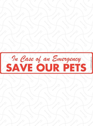 Save Our Pets Sign or Sticker