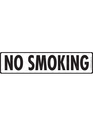 No Smoking with Symbol Sign or Sticker