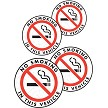No Smoking in This Vehicle Vinyl Sticker (Pack of 4)