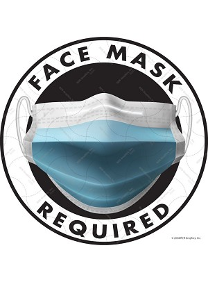 Face Mask Required Vinyl Sticker