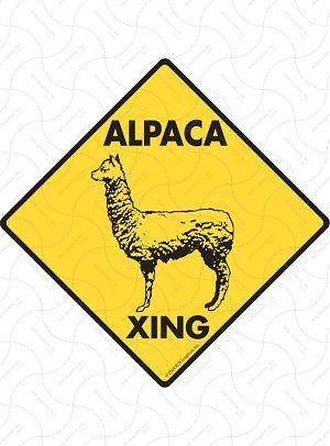 Alpaca Xing Sign or Sticker