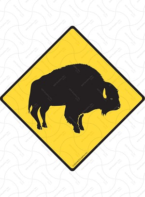 Buffalo Sign or Sticker