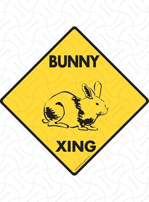 Bunny Xing Sign or Sticker