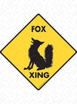 Fox Xing Sign or Sticker
