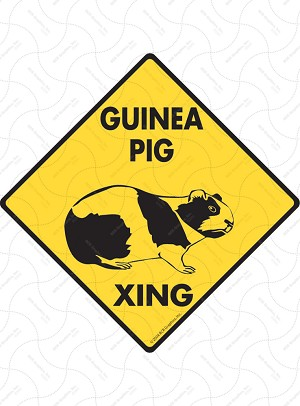 Guinea Pig Xing Sign or Sticker