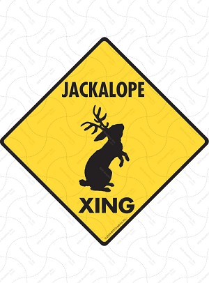 Jackalope Xing Sign or Sticker