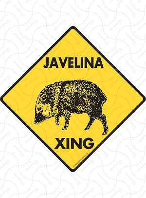 Javelina Xing Sign or Sticker