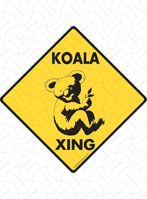 Koala Xing (Crossing) Animal Signs and Sticker