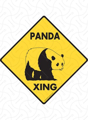 Panda Xing Sign or Sticker