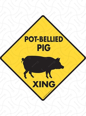 Pot-Bellied Pig Xing Sign or Sticker