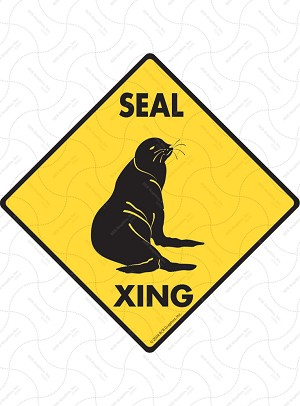 Seal Xing Sign or Sticker