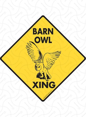 Barn Owl Xing Sign or Sticker
