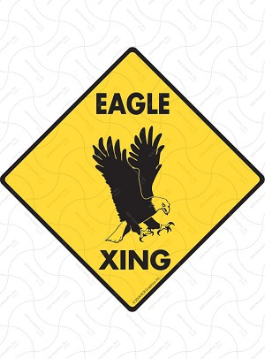 Eagle Xing Sign or Sticker