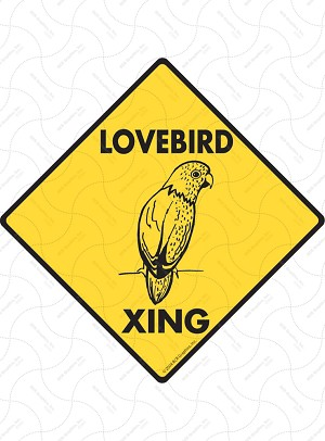 Lovebird Xing Sign or Sticker