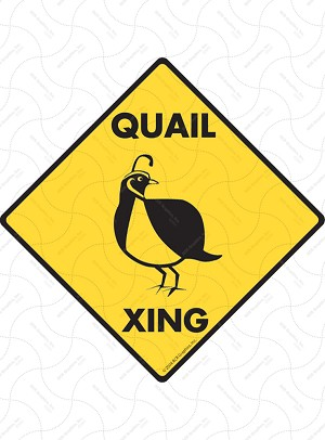 Quail Xing Sign or Sticker