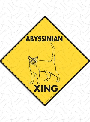 Abyssinian Xing Sign or Sticker