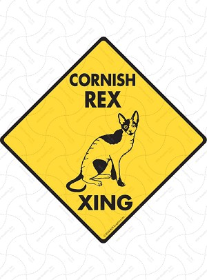 Cornish Rex Xing Sign or Sticker
