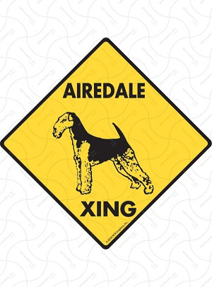Airedale Terrier Xing Sign or Sticker