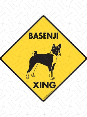 Basenji Xing Sign or Sticker