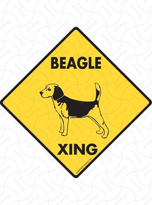 Beagle Xing Sign or Sticker